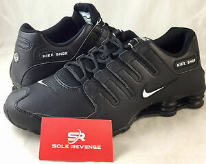 7fe16af99f8 New Men s Nike Shox NZ EU Black White Running Shoes 501524-091 all ...