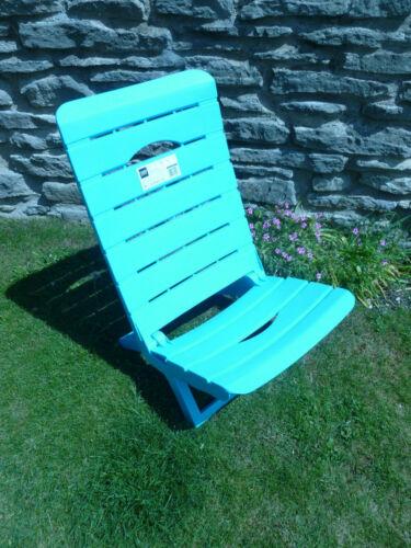 se plie à plat bleu Faible en bandoulière plage chaise prix d/'aubaine