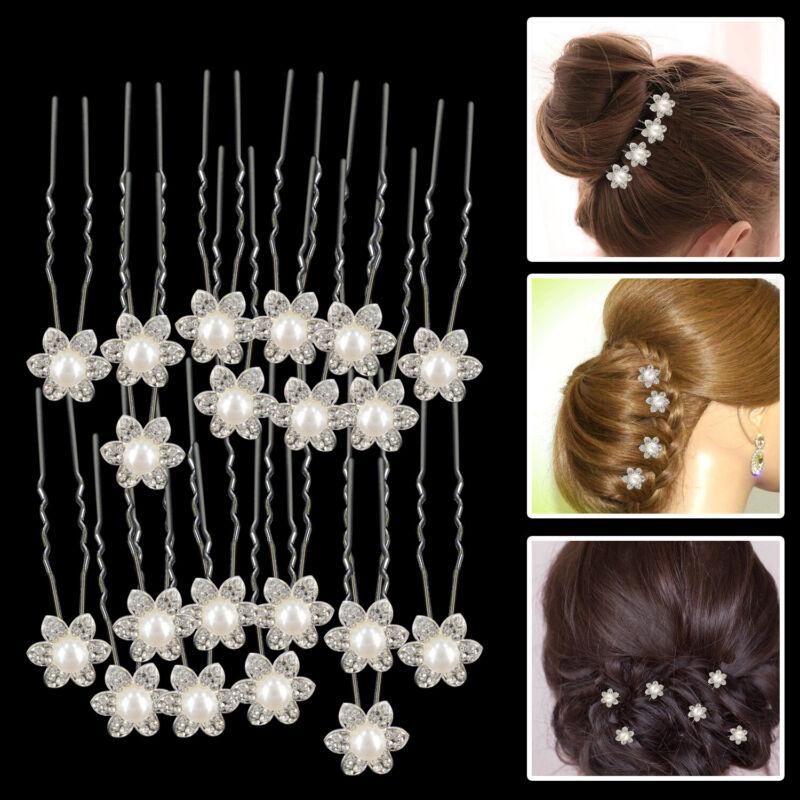 Kommunion Braut Hochzeit Perlen Haarschmuck Blume Haargesteck Stoff Weiß NEU