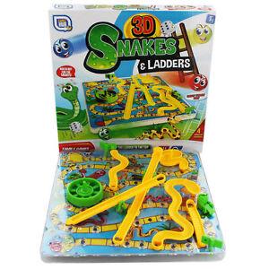 3D Serpents Et Échelles Enfants Board Jeu Traditionnel Famille Jouet 01-0139