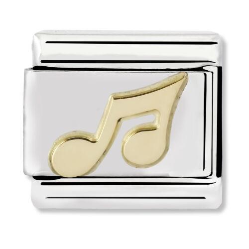 Genuine Nominación Clásica Acero y Oro encanto nota musical 030117//02//20 £ PVP