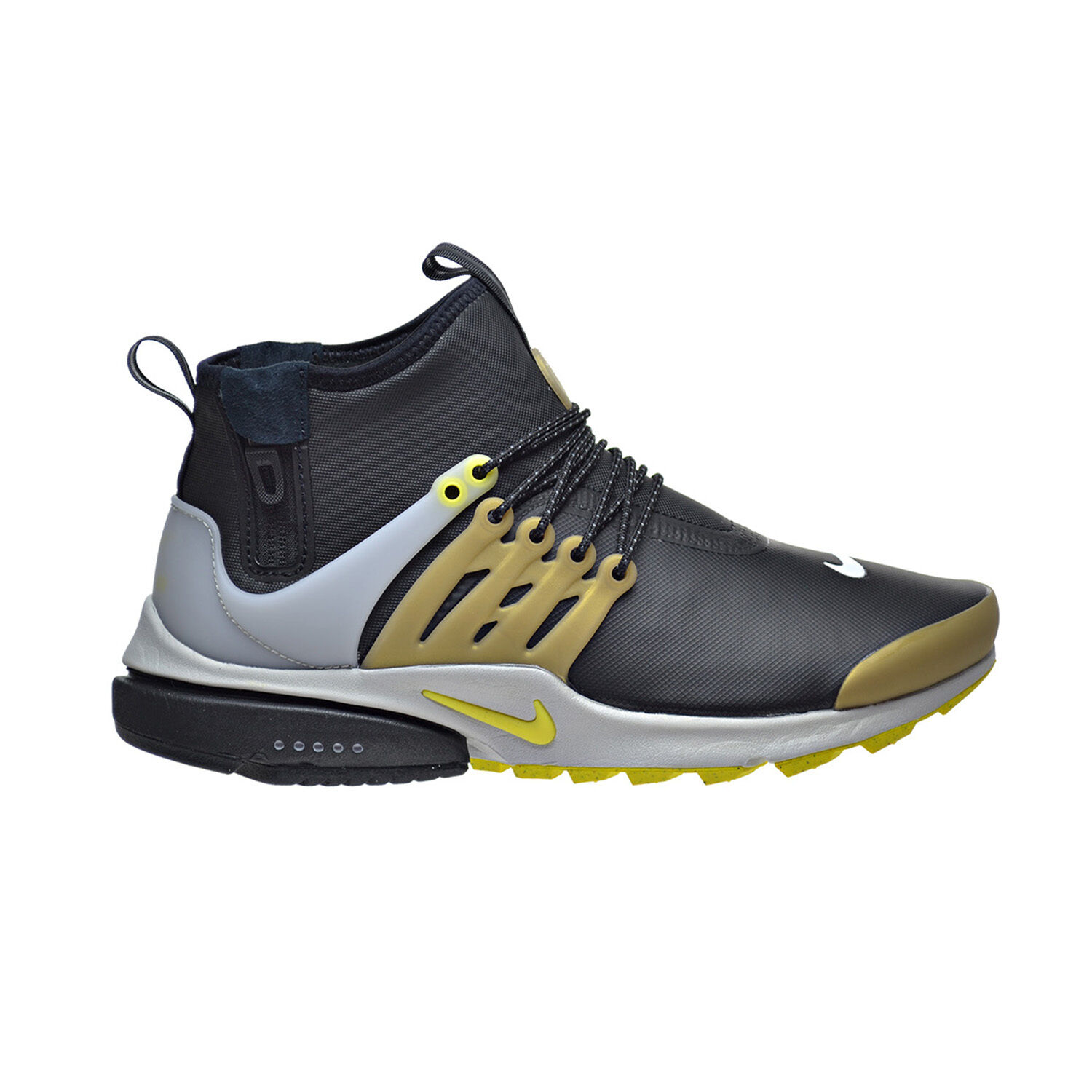 quality design 20dcb a0d68 chic Nike Air Presto Mid Utility Men s Shoes Black Gold Grey Yellow Streak