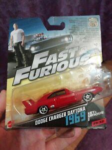 Alerte Fast & Furious Dodge Charger Daytona 1969 Mattel 1:55 Non Hot Wheels-afficher Le Titre D'origine Facile à Lubrifier