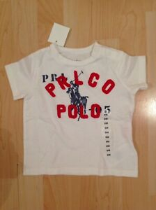 Polo Ralph Lauren Homme Blanc Big Pony T-shirt De 6 Mois Bnwt-afficher Le Titre D'origine Renforcement Des Nerfs Et Des Os