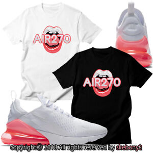 da8c23e25e2870 NEW CUSTOM T SHIRT matching Nike Air Max 270 WHITE HOT PUNCH AM270 1 ...