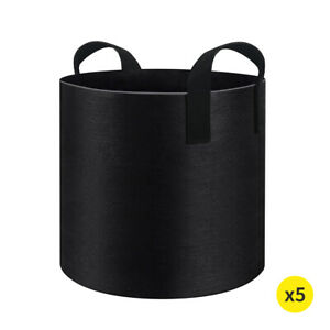 Fabric Plant Pots Grow Bags Container Planter Bag Pouch Root 3 7 Gallon 5 Pack