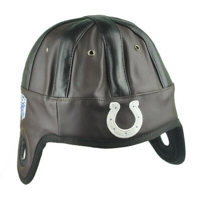 Sport Fanartikel Klug Nfl Reebok Indianapolis Colts Kunstleder Helm Kopf Mütze Spiel Tag Braun Exzellente QualitäT
