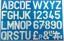 Letters and Numbers Alphabet & Numerals A - Z & 0 - 9 Stencil set 4 inch  10.2cm