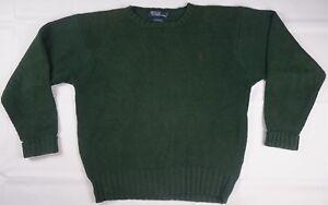 6bf0de21b Rare Vintage POLO RALPH LAUREN Red Pony Logo Knit Crewneck Sweater ...