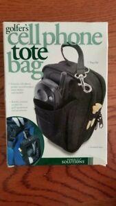 Golfers Cellphone Tote Bag (Black)