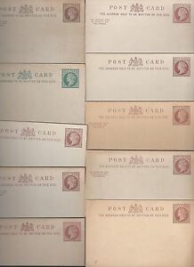 UK-GB-1880-039-s-SPECIALIZED-COLLECTION-OF-10-QUEEN-VICTORIAN-MINT-POSTAL-CARDS-DIFF