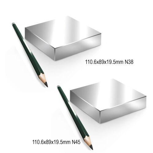 Neodym Magnete Quader groß ab 30mm 20KG-1000KG NdFeB superstark N45 N52