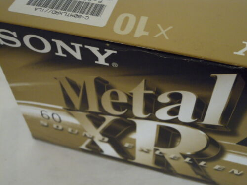 10 Sony XR60 Metal Bias Audio Cassette Tapes New Old Stock