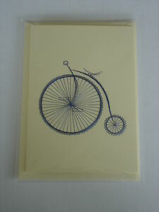 HAND-STITCHED-CARD-PENNY-FARTHING-FATHERS-DAY-BIRTHDAY-CAR-HAND-MADE