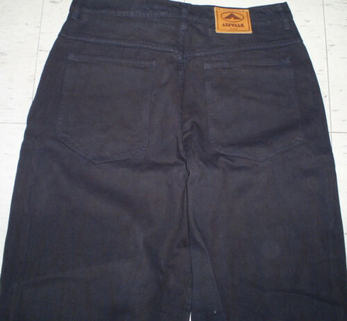 Vintage black Airwalk baggy skateboard hip hop urban rasta pant size 38