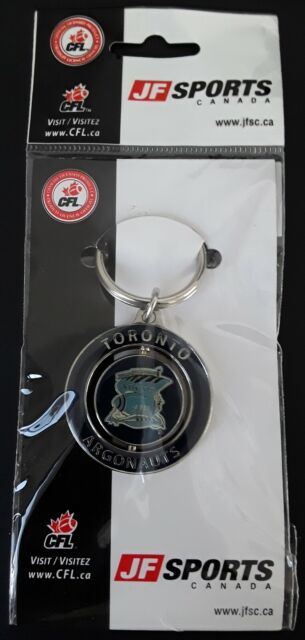 TORONTO ARGONAUTS 1976-1988 Logo 2-Sided Key Chain Ring CFL Official Licensed