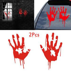 2pcs-Mano-Roja-sangrienta-pegatinas-de-coches-vinilo-etiqueta-zombi-Halloween