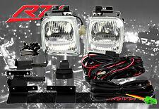 96-98 Honda Civic 2/3/4 dr EK JDM Clear Fog Light Kit EX DX LX SI SiR HB HX HV