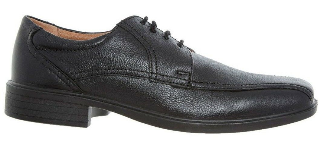 Padders ASTON da uomo in pelle Wide Fit (G) Casual comfort Smart Casual (G) Scarpe-Nero 4bfa34