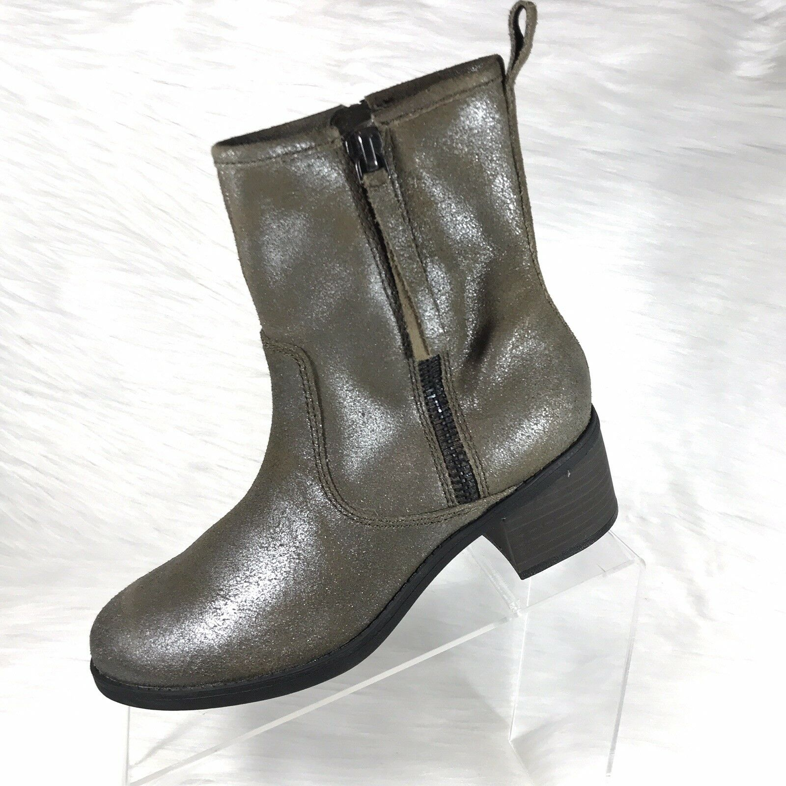 Clarks Collection Women's Ankle Boots Nevella Devon Taupe Leather Size 7.5 M