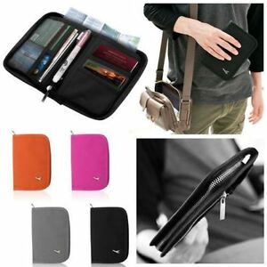 Travel-Bag-Wallet-Purse-Document-Organiser-Zipped-Passport-Tickets-ID-Holder