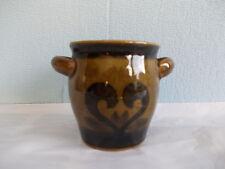 Ceramic mustard jar green/black keramiek mosterd pot groen/zwart