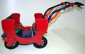 Krippenwagen-Bollerwagen-HAWAZUZIE-Einsteiger-4-Sitzer-Lenkung-Funktionsgriff