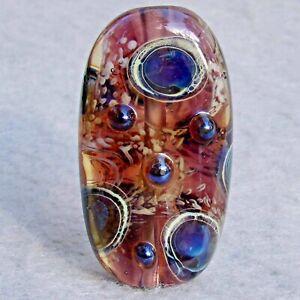 MYSTIC-Handmade-Art-Glass-Focal-Bead-Flaming-Fools-Lampwork-Art-Glass-SRA