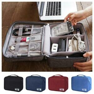 Electronics-Accessories-Organizer-Travel-Storage-Hand-Bag-Cable-USB-Drive-Case