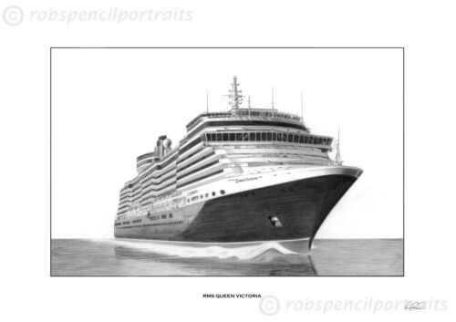RMS QUEEN VICTORIA  A4 Print Ocean Cruise Liner Unique Gift Present Picture