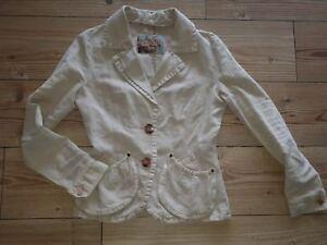 Détails sur veste blazer ceintrée beige Kaporal taille S