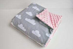 Zielsetzung H&d Baby Decke 75 X 50 Minky Plüsch Wolken Rosa Kuscheldecke Krabbeldecke Öko Kinderwagen & Zubehör