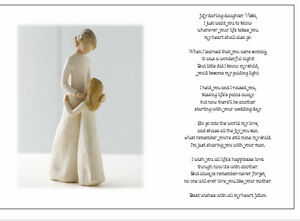 Image Is Loading Personalised Wedding Day Poem Gift From Mother Of
