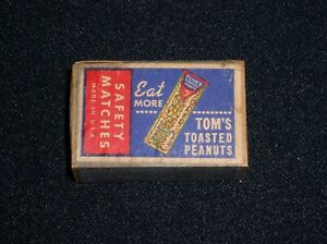 Tom-039-s-Toasted-Peanuts-034-Eat-More-034-vintage-Safety-Matches-Matchbox