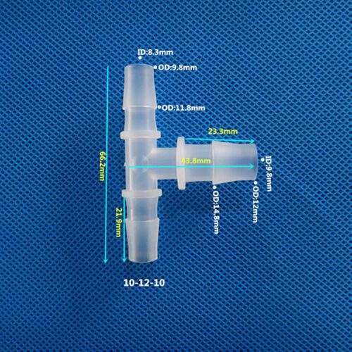 T-Stück Schlauchverbinder Reduziert Kunststoff 3-Wege Reduzierverbinder Weiß