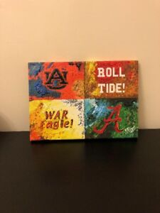 Details about Auburn Alabama Canvas Art A House Divided