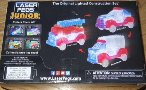 Rescue Fire Truck Laser Pegs Junior Lighted Construction Set Toy ZD006 Ages 4-7