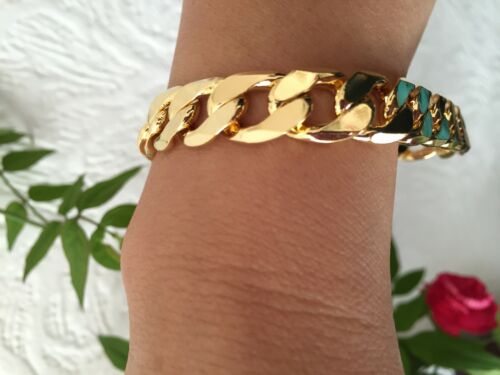 20-25cm 10-12mm 18K Yellow Gold Bracelet Chain Men/'s Birthday Christmas Present