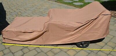 """4 Outdoor Patio Chaise Lounge Chair Cover 83"""" L Clip Fasteners Weatherproof Tan Aliviar El Reumatismo"""