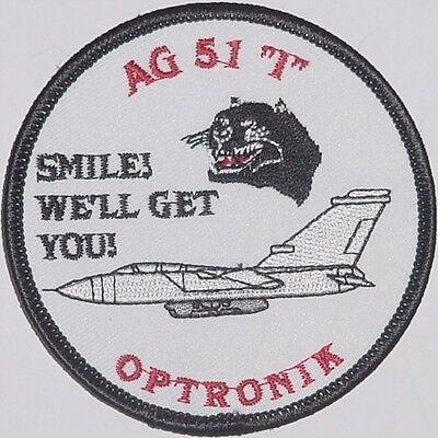 """Luftwaffe Aufnäher Patch AG 51 /""""Immelmann/"""" Das beste am Norden .........A2116"""