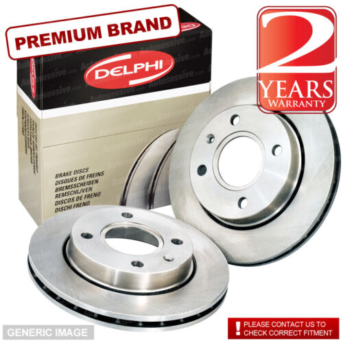 Front Delphi Brake Discs Set 360mm Vented Pair For AUDI A8 3.0 TDI QUATTRO