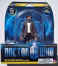 DOCTOR WHO. THE ELEVENTH DOCTOR WITH BEARD ACTION FIGURE. NEW ON CARD. BBC
