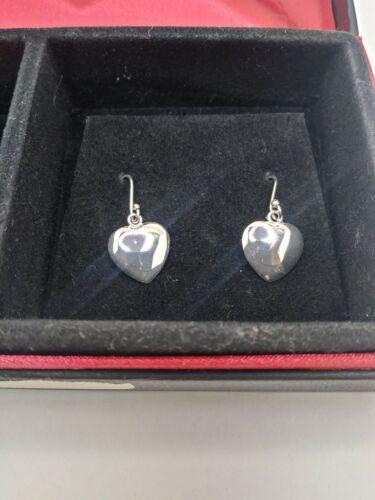 Macy/'s Sterling Silver 3 Piece Set Heart Earrings Necklace /& Bracelet MSRP $100