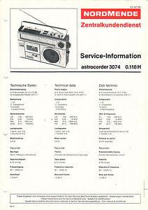 Tv, Video & Audio Hart Arbeitend Nordmende Service Manual Anleitung Astrocorder 3074 0.118 H B1654