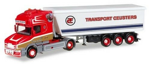 Scania T TL + semi-rqe benne Kempf  Transport Ceusters  - Herpa - Scale 1/87 Ho