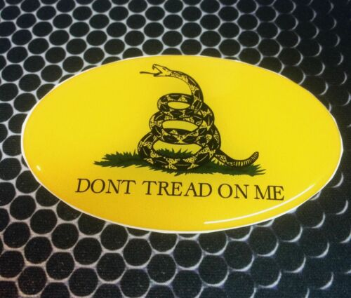 """Dont Tread on Me Proud USA Shield Domed Decal Emblem Car Sticker 3D 3.25/""""x 2/"""""""