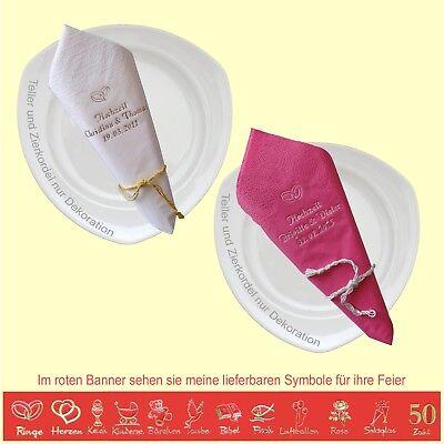 Namen Servietten Bedruckt Zu Hochzeit Silberhochzeit Goldene Diamantene Feier Ebay