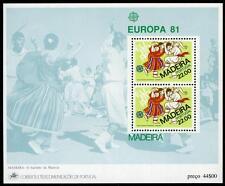 Portugal Madeira 74a,MI Bl.2,MNH.EUROPA CEPT.Folklore.O Bailinho folk dance,1981