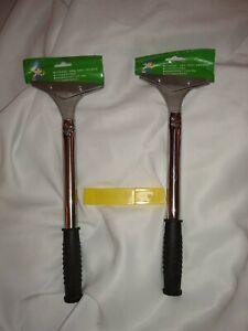 4-Inch-Razor-Blade-Tile-Scrubber-2-pack-plus-refill-razor-blades-cutter-new
