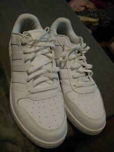 Details about Adidas AW4509 NEO Cloudfoam FOOTBED White LEATHER SNEAKERS Men Size 15